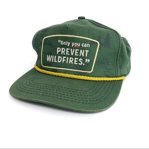 """""""Only You Can Prevent Wildfires"""" Green Snap Back"""